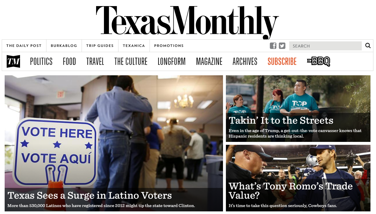The Texas Monthly, which recently sold for $25m