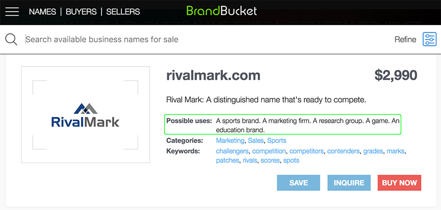 save off 2e55b bbaad For instance, one of the featured domains on their homepage as I write this  is RivalMark.com. If you click on the listing to investigate further, you  can ...